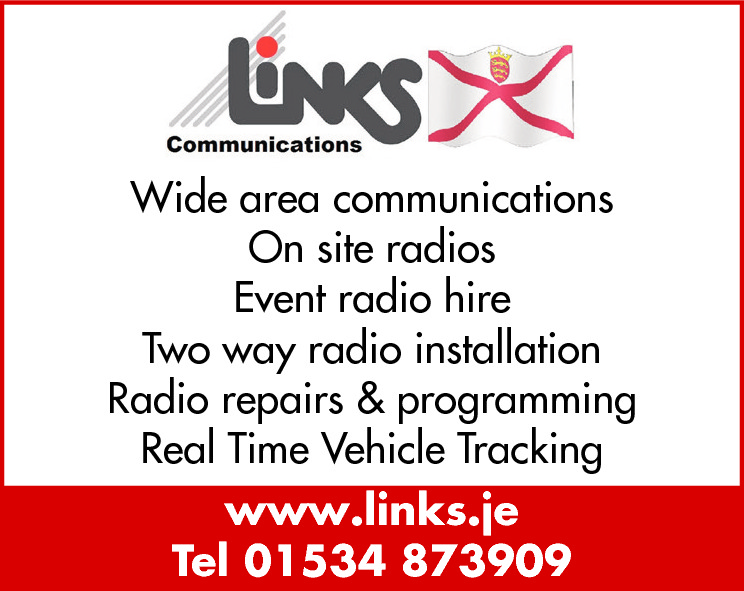 Wide area communications On site radios Event radio hire Two way radio installation Radio repairs & programming Real Time Vehicle Tracking www.links.je Tel 01534 873909