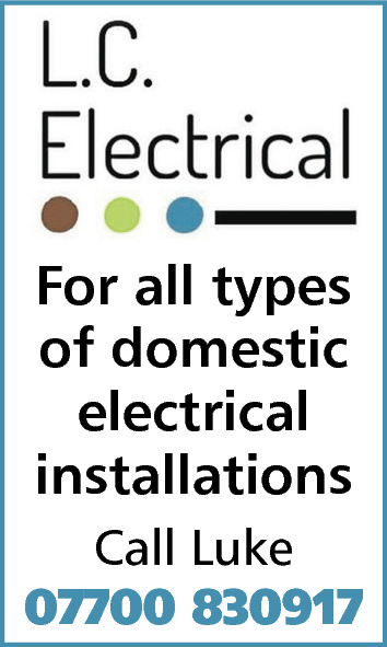 For all types of domestic electrical installations Call Luke 07700 830917