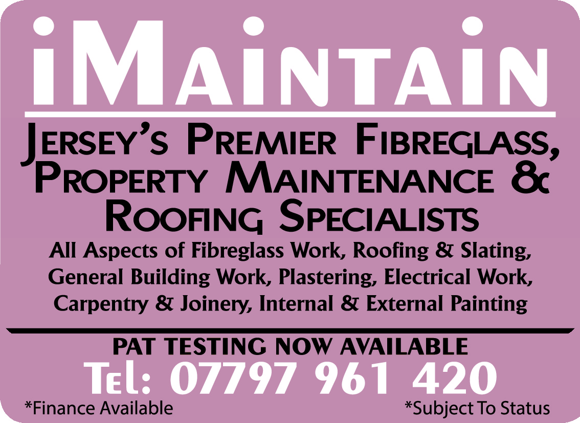 Jersey's Premier Fibreglass, ProPerty maintenance & rooFing sPecialists PAT TESTING NOW AVAILABLE *Finance Available  *Subject To Status