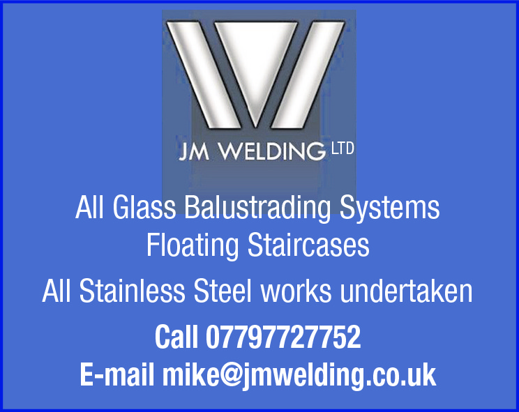 LTD  All Glass Balustrading Systems Floating Staircases All Stainless Steel works undertaken Call 07797727752 E-mail mike@jmwelding.co.uk
