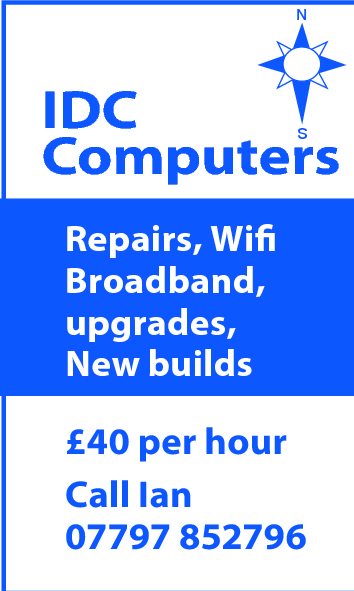 N  IDC Computers S  Repairs, Wifi Broadband, upgrades, New builds £40 per hour Call Ian 07797 852796